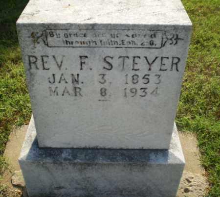 STEYER, F., REV. - Greene County, Arkansas | F., REV. STEYER - Arkansas Gravestone Photos