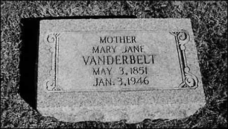VANDERBELT, MARY JANE - Greene County, Arkansas   MARY JANE VANDERBELT - Arkansas Gravestone Photos