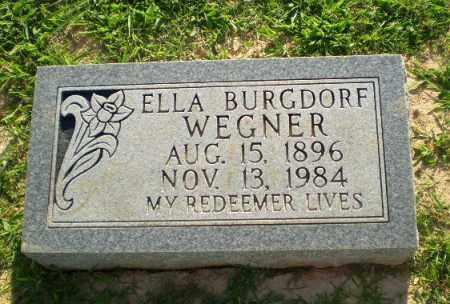 BURGDORF WEGNER, ELLA - Greene County, Arkansas | ELLA BURGDORF WEGNER - Arkansas Gravestone Photos