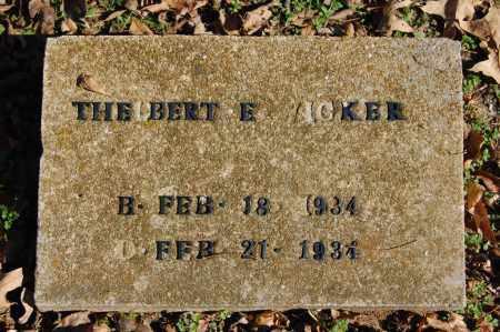 WICKER, THELBERT E. - Greene County, Arkansas | THELBERT E. WICKER - Arkansas Gravestone Photos