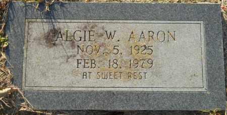 AARON, ALGIE W - Hempstead County, Arkansas | ALGIE W AARON - Arkansas Gravestone Photos