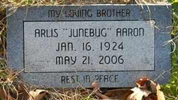 "AARON, ARLIS ""JUNEBUG"" - Hempstead County, Arkansas | ARLIS ""JUNEBUG"" AARON - Arkansas Gravestone Photos"