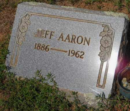 AARON, JEFF - Hempstead County, Arkansas | JEFF AARON - Arkansas Gravestone Photos