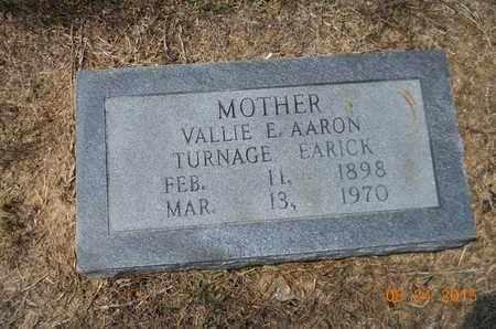 AARON, VALLIE E - Hempstead County, Arkansas | VALLIE E AARON - Arkansas Gravestone Photos