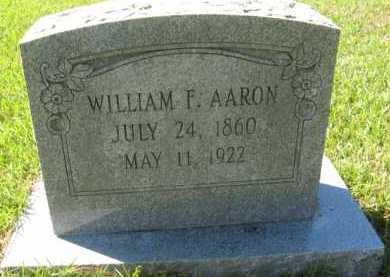 AARON, WILLIAM F - Hempstead County, Arkansas | WILLIAM F AARON - Arkansas Gravestone Photos