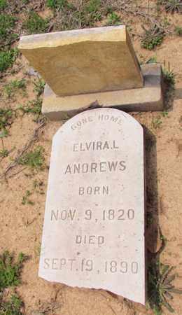 ANDREWS, ELVIRA L - Hempstead County, Arkansas | ELVIRA L ANDREWS - Arkansas Gravestone Photos