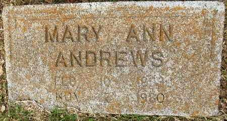 ANDREWS, MARY ANN - Hempstead County, Arkansas   MARY ANN ANDREWS - Arkansas Gravestone Photos