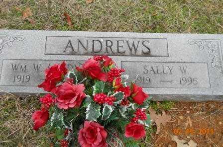 ANDREWS, SALLY W - Hempstead County, Arkansas   SALLY W ANDREWS - Arkansas Gravestone Photos