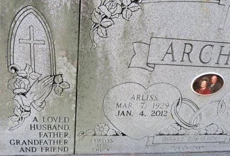 ARCHER, ARLISS (CLOSEUP) - Hempstead County, Arkansas   ARLISS (CLOSEUP) ARCHER - Arkansas Gravestone Photos