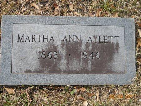 AYLETT, MARTHA ANN - Hempstead County, Arkansas | MARTHA ANN AYLETT - Arkansas Gravestone Photos