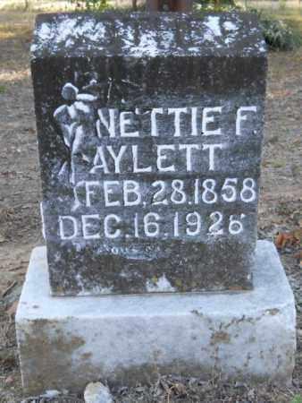 AYLETT, NETTIE F - Hempstead County, Arkansas | NETTIE F AYLETT - Arkansas Gravestone Photos