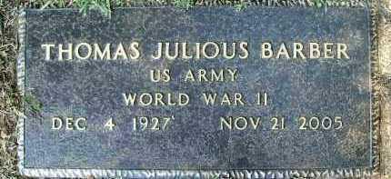 BARBER, THOMAS JULIOUS - Hempstead County, Arkansas   THOMAS JULIOUS BARBER - Arkansas Gravestone Photos