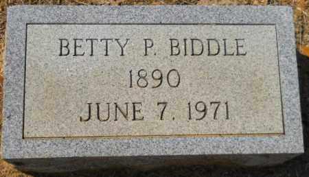 BIDDLE, BETTY P - Hempstead County, Arkansas   BETTY P BIDDLE - Arkansas Gravestone Photos