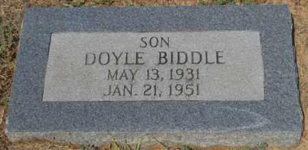BIDDLE, DOYLE - Hempstead County, Arkansas   DOYLE BIDDLE - Arkansas Gravestone Photos