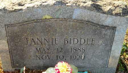 BIDDLE, FANNIE - Hempstead County, Arkansas   FANNIE BIDDLE - Arkansas Gravestone Photos