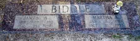 BIDDLE, MARTHA A - Hempstead County, Arkansas   MARTHA A BIDDLE - Arkansas Gravestone Photos