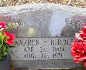 BIDDLE, WARREN H - Hempstead County, Arkansas   WARREN H BIDDLE - Arkansas Gravestone Photos