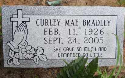 BRADLEY, CURLEY MAE - Hempstead County, Arkansas   CURLEY MAE BRADLEY - Arkansas Gravestone Photos