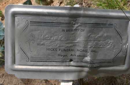 BRADLEY, FRANCES - Hempstead County, Arkansas   FRANCES BRADLEY - Arkansas Gravestone Photos