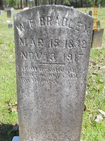 BRADLEY, W F - Hempstead County, Arkansas   W F BRADLEY - Arkansas Gravestone Photos