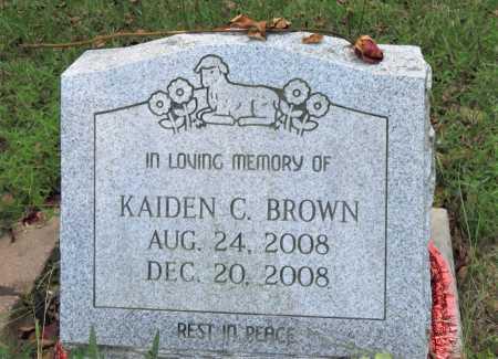 BROWN, KAIDEN CORDELL - Hempstead County, Arkansas | KAIDEN CORDELL BROWN - Arkansas Gravestone Photos