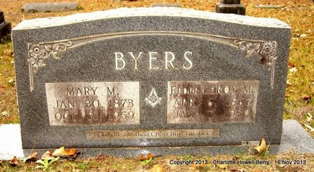 BYERS, MARY M - Hempstead County, Arkansas | MARY M BYERS - Arkansas Gravestone Photos