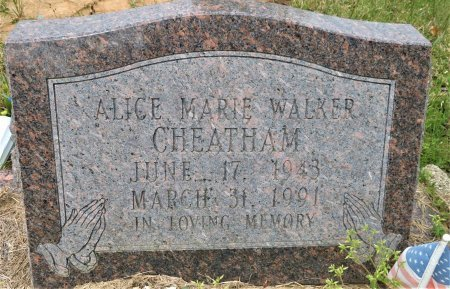 CHEATHAM, ALICE MARIE - Hempstead County, Arkansas | ALICE MARIE CHEATHAM - Arkansas Gravestone Photos