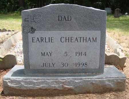 CHEATHAM, EARLIE - Hempstead County, Arkansas | EARLIE CHEATHAM - Arkansas Gravestone Photos