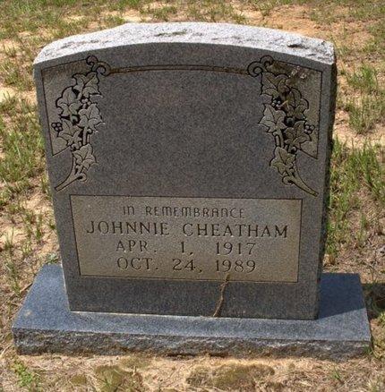 CHEATHAM, JOHNNIE - Hempstead County, Arkansas   JOHNNIE CHEATHAM - Arkansas Gravestone Photos