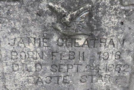 CHEATHAM, JANIE (CLOSEUP) - Hempstead County, Arkansas   JANIE (CLOSEUP) CHEATHAM - Arkansas Gravestone Photos
