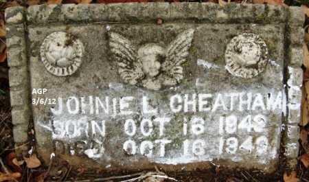 CHEATHAM, JOHNIE L - Hempstead County, Arkansas   JOHNIE L CHEATHAM - Arkansas Gravestone Photos
