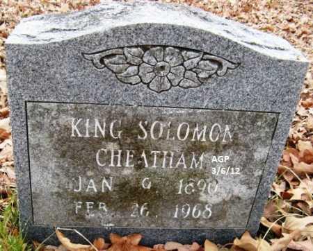 CHEATHAM, KING SOLOMON - Hempstead County, Arkansas | KING SOLOMON CHEATHAM - Arkansas Gravestone Photos
