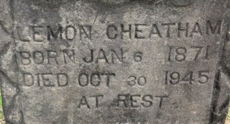 CHEATHAM, LEMON (CLOSEUP) - Hempstead County, Arkansas | LEMON (CLOSEUP) CHEATHAM - Arkansas Gravestone Photos
