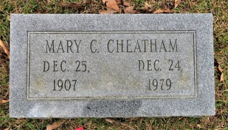 CHEATHAM, MARY C. - Hempstead County, Arkansas   MARY C. CHEATHAM - Arkansas Gravestone Photos