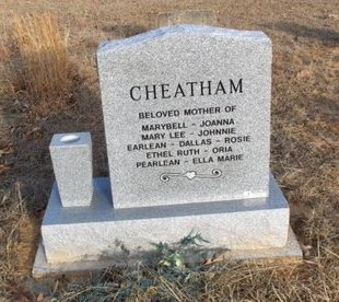 CHEATHAM, STELLA (BACK VIEW) - Hempstead County, Arkansas   STELLA (BACK VIEW) CHEATHAM - Arkansas Gravestone Photos