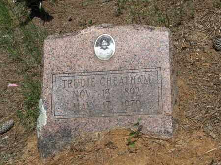 CHEATHAM, TRUDIE - Hempstead County, Arkansas | TRUDIE CHEATHAM - Arkansas Gravestone Photos