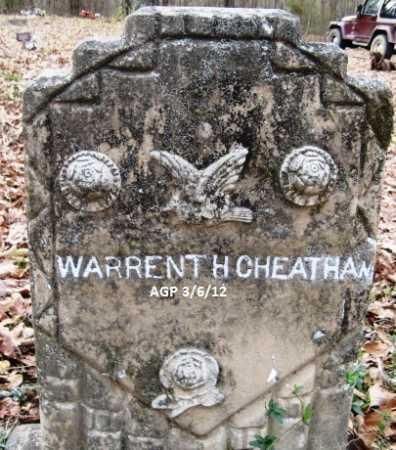 CHEATHAM, WARRENT H - Hempstead County, Arkansas | WARRENT H CHEATHAM - Arkansas Gravestone Photos