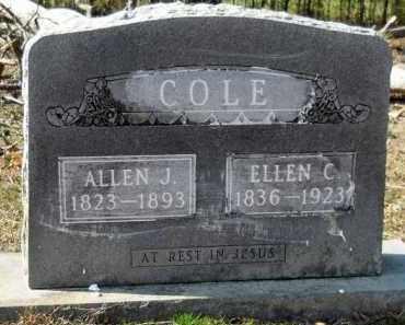 COLE, ALLEN J - Hempstead County, Arkansas | ALLEN J COLE - Arkansas Gravestone Photos