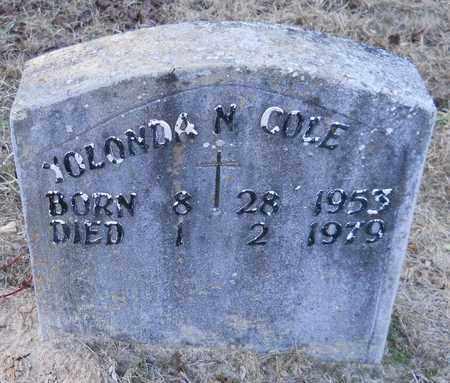 COLE, YOLANDA N - Hempstead County, Arkansas   YOLANDA N COLE - Arkansas Gravestone Photos