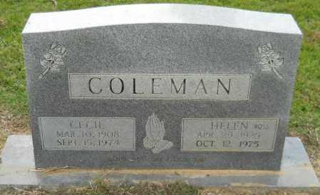 COLEMAN, CECIL - Hempstead County, Arkansas | CECIL COLEMAN - Arkansas Gravestone Photos