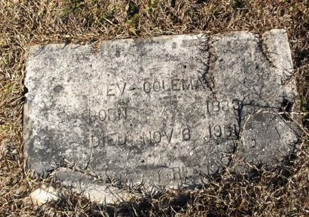 COLEMAN, E V - Hempstead County, Arkansas | E V COLEMAN - Arkansas Gravestone Photos