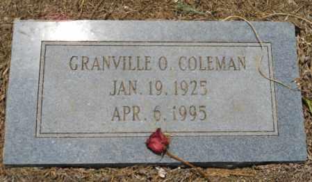 COLEMAN, GRANVILLE O - Hempstead County, Arkansas | GRANVILLE O COLEMAN - Arkansas Gravestone Photos