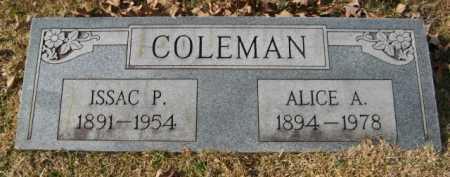COLEMAN, ISSAC P - Hempstead County, Arkansas | ISSAC P COLEMAN - Arkansas Gravestone Photos