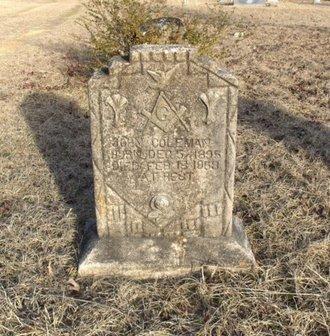 COLEMAN, JOHN - Hempstead County, Arkansas | JOHN COLEMAN - Arkansas Gravestone Photos
