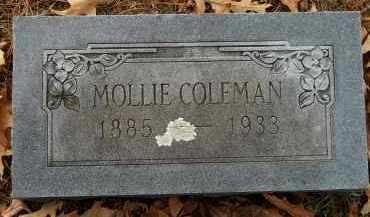 COLEMAN, MOLLIE - Hempstead County, Arkansas | MOLLIE COLEMAN - Arkansas Gravestone Photos