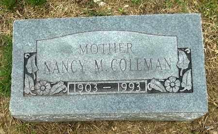 COLEMAN, NANCY M - Hempstead County, Arkansas | NANCY M COLEMAN - Arkansas Gravestone Photos