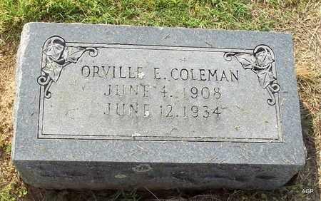 COLEMAN, ORVILLE E - Hempstead County, Arkansas | ORVILLE E COLEMAN - Arkansas Gravestone Photos