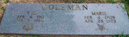 COLEMAN, Y.C. - Hempstead County, Arkansas | Y.C. COLEMAN - Arkansas Gravestone Photos