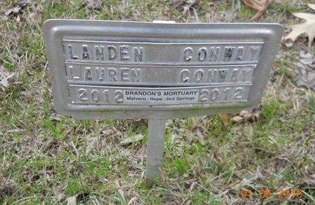 CONWAY, LANDEN - Hempstead County, Arkansas | LANDEN CONWAY - Arkansas Gravestone Photos
