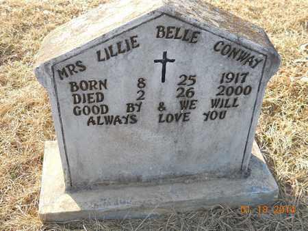 CONWAY, LILLIE BELLE - Hempstead County, Arkansas | LILLIE BELLE CONWAY - Arkansas Gravestone Photos
